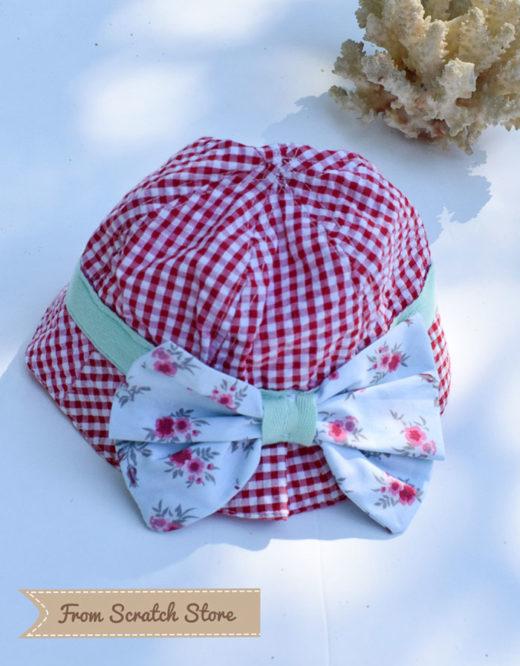 Καπέλο υφασμάτινο καρό κόκκινο | From Scratch Store