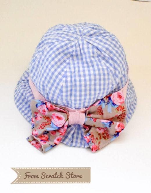 Καπέλο υφασμάτινο καρό γαλάζιο | From Scratch Store