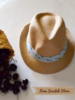 Ψάθινο καπέλο για αγόρι | From Scratch Store