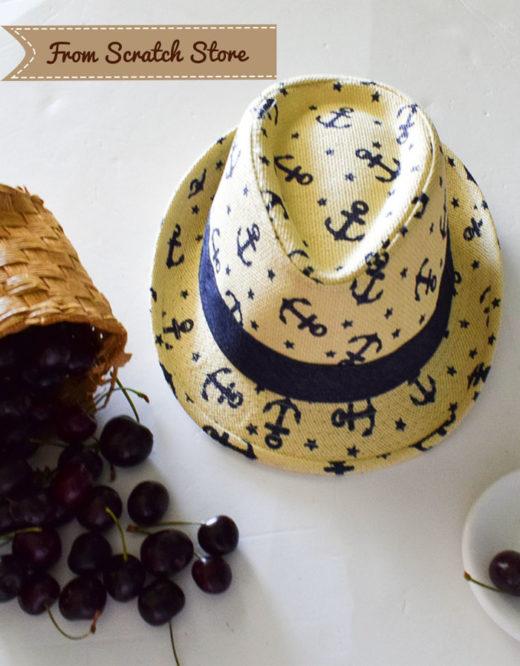 Παιδικό ψάθινο καπέλο   From Scratch Store