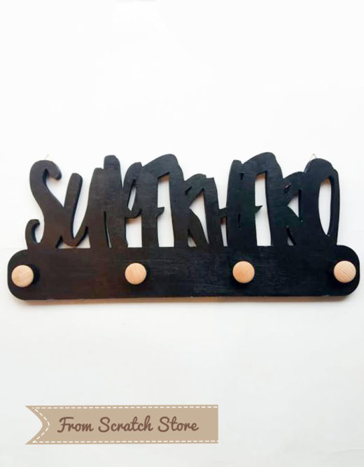 Handmade ξύλινη κρεμάστρα Super Hero | From Scratch Store