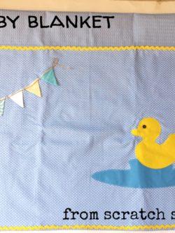 Χειροποίητη παιδική Κουβέρτα Παπάκι | From Scratch Store