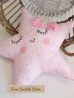 Handmade διακοσμητικό μαξιλάρι αστέρι | From Scratch Store