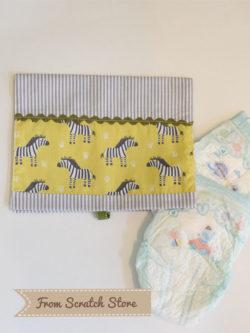 Handmade θήκη πάνας Ζέβρα | From Scratch Store