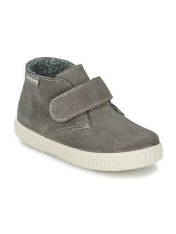 Παιδικά ψηλά sneakers σε γκρι σουέτ δέρμα από την ισπανική μάρκα Victoria   From Scratch Store