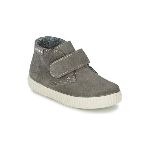 Παιδικά ψηλά sneakers σε γκρι σουέτ δέρμα από την ισπανική μάρκα Victoria | From Scratch Store