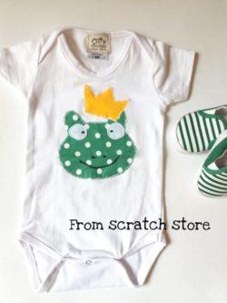 Χειροποίητο φορμάκι για βρέφη Βάτραχος | Ftrom Scratch Store