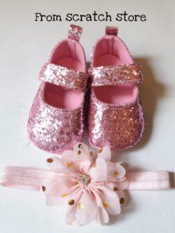 Παπούτσια αγκαλιάς μπαρέτες glitter | From Scratch Store