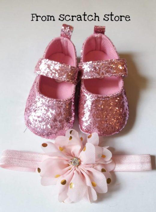 Παπούτσια αγκαλιάς μπαρέτες glitter   From Scratch Store
