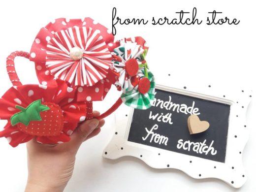 Handmade Στέκα Μαλλιών σε κόκκινες αποχρώσεις | From Scratch Store