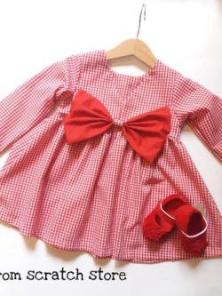 Χειροποίητο παιδικό καρό φόρεμα | From Scratch Store
