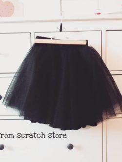 Χειροποίητη παιδική φούστα Τουτου μαυρή | From Scratch Store