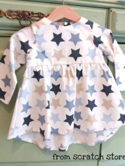 Χειροποίητο παιδικό φόρεμα αστέρια | From Scratch Store