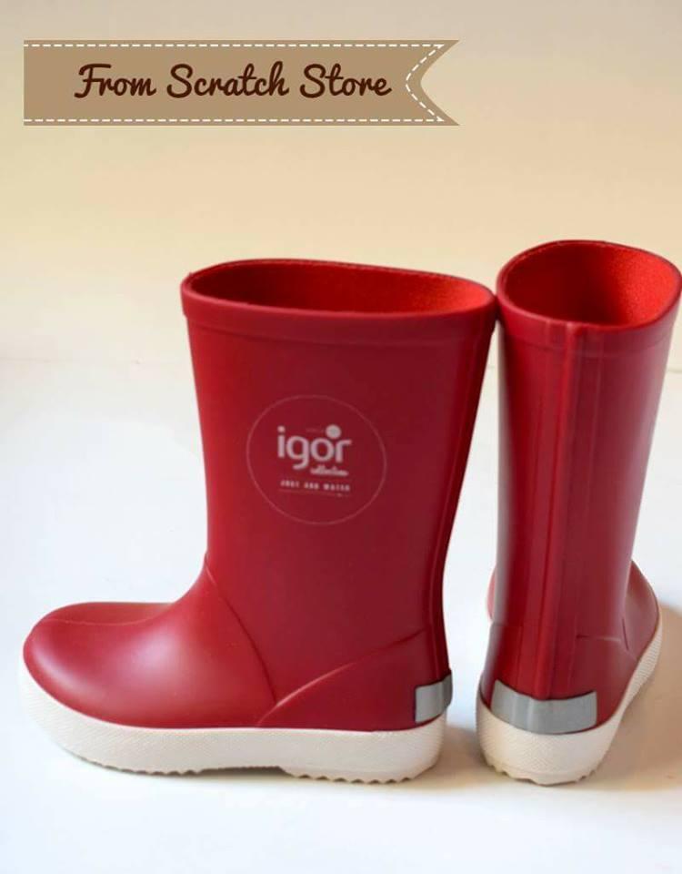 Παιδικές γαλότσες Igor σε κόκκινο χρώμα  0bd953e34e0