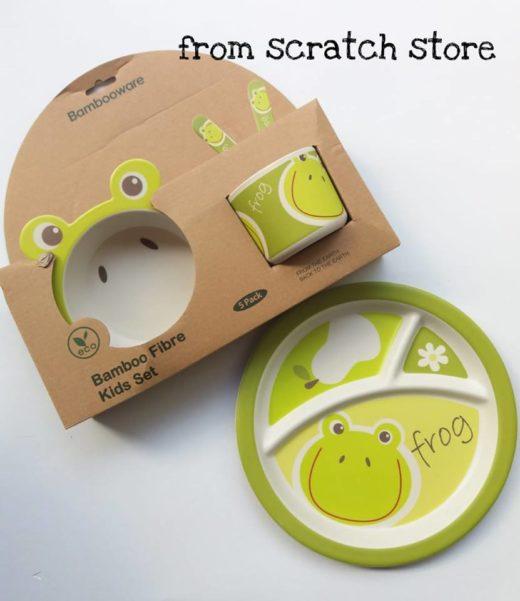 Οικολογικό σετ φαγητού από από ίνες μπαμπού- Frog | From Scratch Store