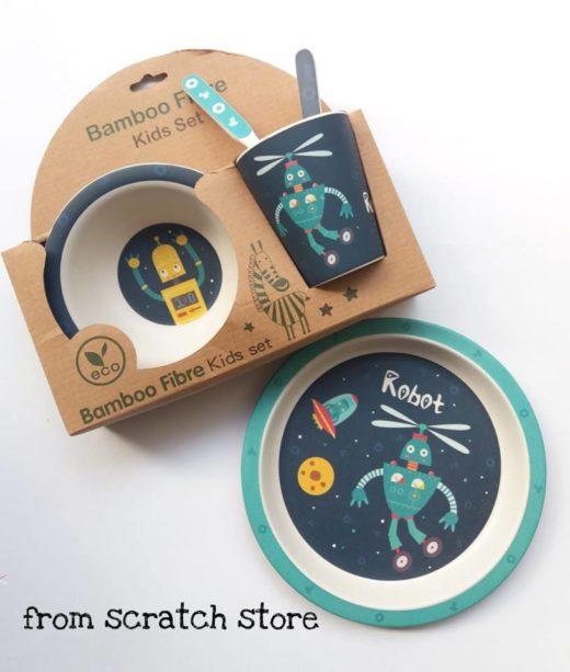 Οικολογικό σετ φαγητού από από ίνες μπαμπού-Ρομπότ | From Scratch Store