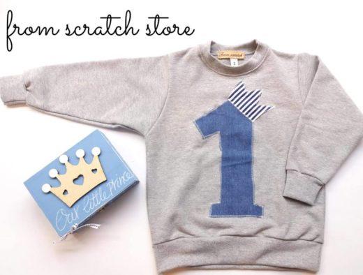 Παιδικό χειροποίητο φούτερ number one | From Scratch Store