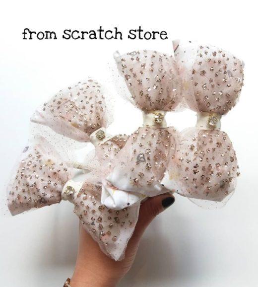 Παιδική handmade στέκα μαλλιών Ποντικίνα | From Scratch Store