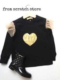 Χειροποίητο Παιδικό T-shirt Star σε μαύρο χρώμα | From Scratch Store