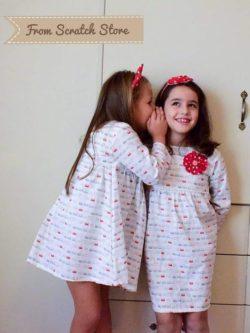 Χειροποίητο παιδικό φόρεμα κορώνα | From Scratch Store