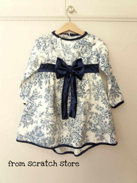 Φόρεμα Πορσελάνη Μπλέ / From Scratch Store