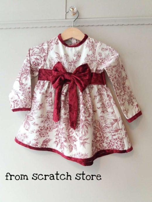 Φόρεμα Πορσελάνη Μπορντο / From Scratch Store