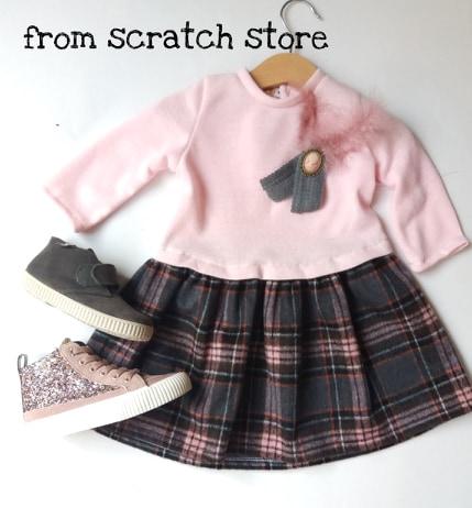 Φόρεμα Ροζ και Καρό