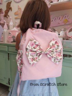 Σακίδιο Πλάτης Pink Floral Bow