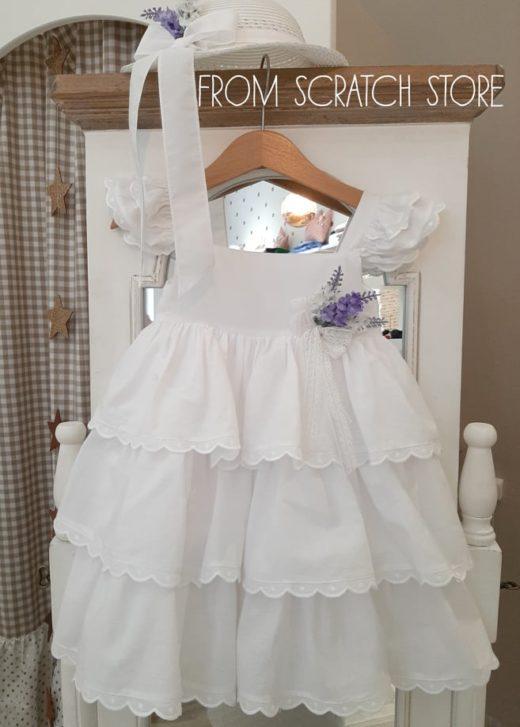"""Βαπτιστικό Φόρεμα """"Λεβάντα"""""""