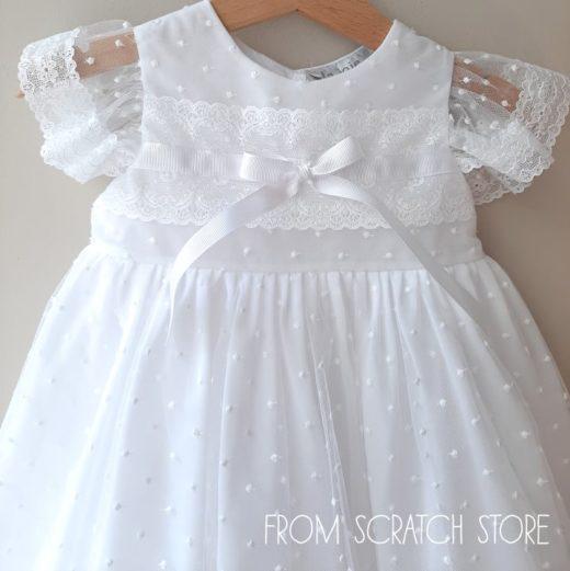 """Βαπτιστικό Φόρεμα """"Dots"""""""