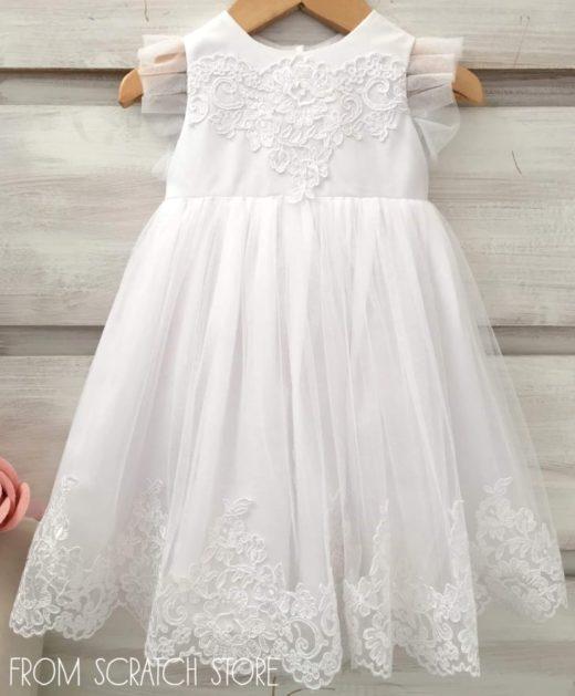 """Βαπτιστικό Φόρεμα """"Tulle & Lace"""""""