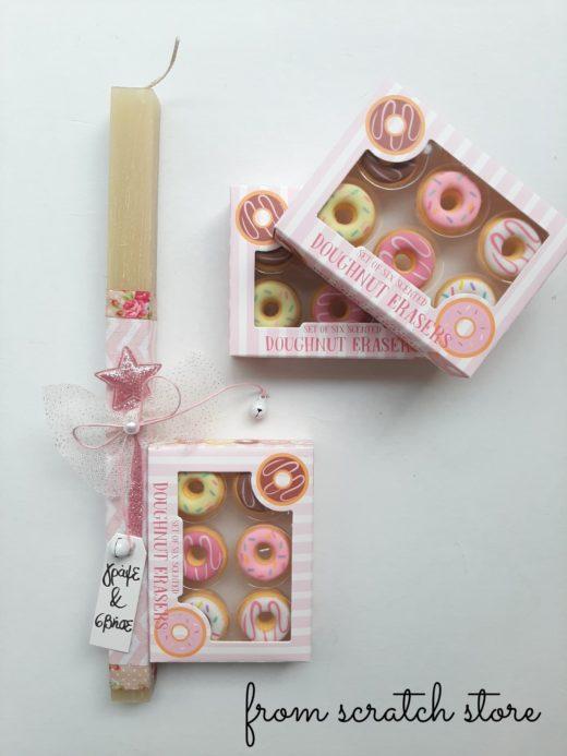 Λαμπάδα Donuts Erasers