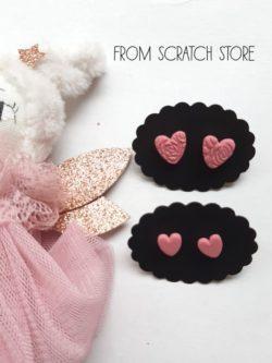 Σκουλαρίκια Καρδούλα Ροζ