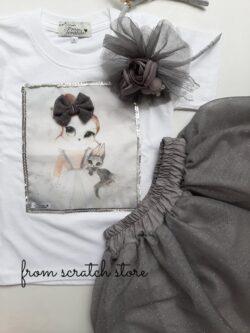 T-Shirt Iris Grey